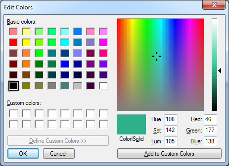 Microsoft Paint colour piccking tool